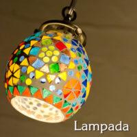 IDP676 インド・モザイクガラス ペンダントライト ¥13,800 + 税